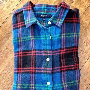 Madewell | Boyshirt Flannel in Fence Plaid